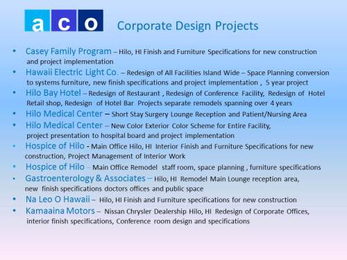 Corporate Design Projects